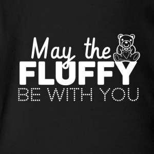 May the fluffly be with you - Short Sleeve Baby Bodysuit