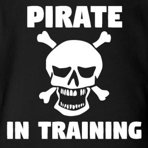 Pirate In Training - Short Sleeve Baby Bodysuit