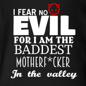 I am the baddest Motherfucker in the valley - Short Sleeve Baby Bodysuit