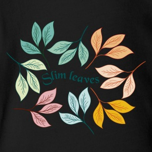 slim leaves brand - Short Sleeve Baby Bodysuit