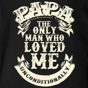 Papa Loves Me Unconditionally Father's Day - Short Sleeve Baby Bodysuit