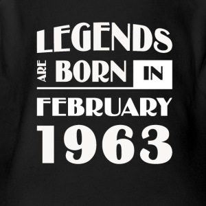 Legends are born in February 1963 - Short Sleeve Baby Bodysuit
