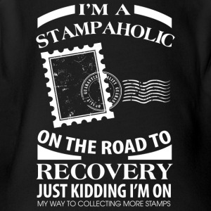 I'm A Stampaholic On The Road To Discovery - Short Sleeve Baby Bodysuit