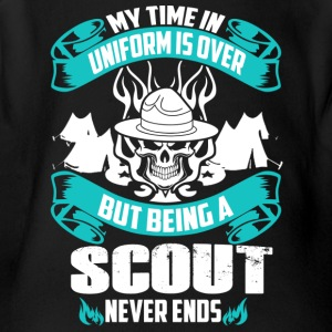 Being A Scout Never End - Short Sleeve Baby Bodysuit