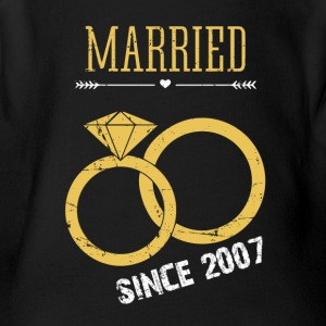 Married since 2007 - Short Sleeve Baby Bodysuit