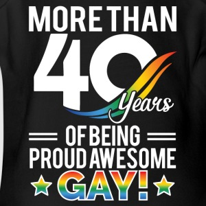 40 Year of Being Proud Awesome Gay - Short Sleeve Baby Bodysuit