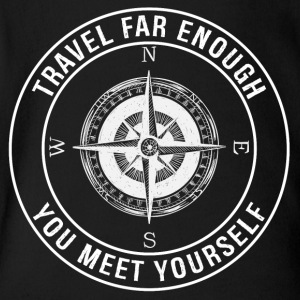 Travel Far Enough, You Meet Yourself - Short Sleeve Baby Bodysuit