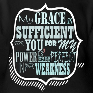 My Grace is Sufficent For You Design - Short Sleeve Baby Bodysuit