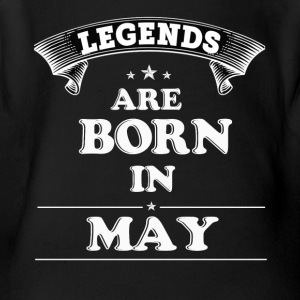 Legends Are Born in May T-Shirt - Short Sleeve Baby Bodysuit