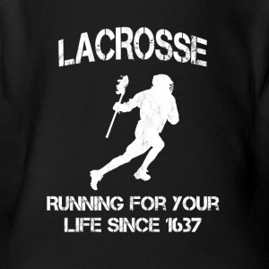 Lacrosse - Running for your life since 1637 - Short Sleeve Baby Bodysuit