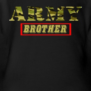 Army Brother - Proud Army Brother T-Shirt - Short Sleeve Baby Bodysuit