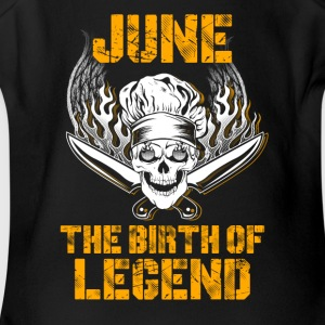 June the birth of legend Chef T-Shirts - Short Sleeve Baby Bodysuit