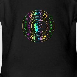 Rockin' On The Moon Colorful - Short Sleeve Baby Bodysuit