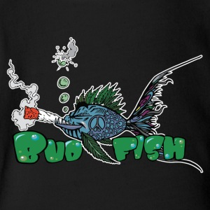 Bud Fish - Short Sleeve Baby Bodysuit