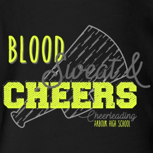 ood Sweat Cheers Cheerleading Arbour High School - Short Sleeve Baby Bodysuit
