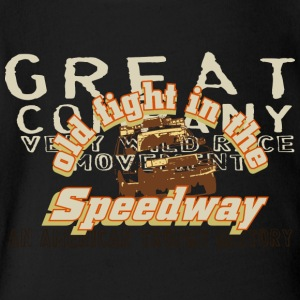 old fight in the speedway - Short Sleeve Baby Bodysuit