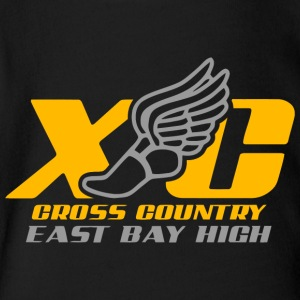 XC Cross Country East Bay High - Short Sleeve Baby Bodysuit