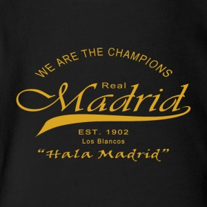 Madrid, We Are The Champions - Short Sleeve Baby Bodysuit