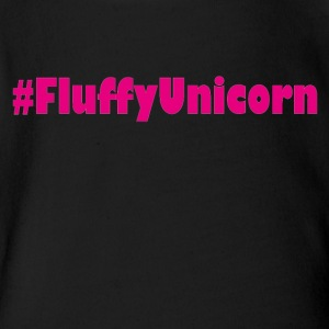 fluffy unicorn einhorn rainbow - Short Sleeve Baby Bodysuit