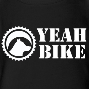 Yeah Bike white - Short Sleeve Baby Bodysuit