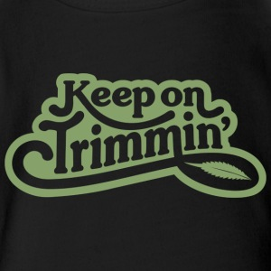 keepontrimming_green - Short Sleeve Baby Bodysuit