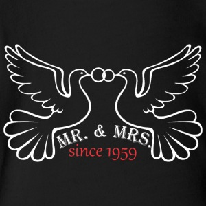 Mr And Mrs Since 1959 Married Marriage Engagement - Short Sleeve Baby Bodysuit