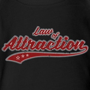 Law of Attraction (retro Color) - Short Sleeve Baby Bodysuit