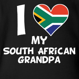 I Heart My South African Grandpa - Short Sleeve Baby Bodysuit