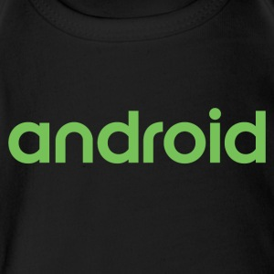 Android logo wordmark logotype - Short Sleeve Baby Bodysuit