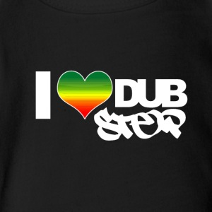 I heart dubstep - Short Sleeve Baby Bodysuit