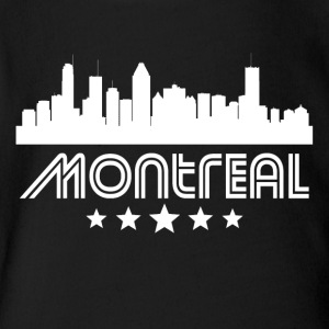 Retro Montreal Skyline - Short Sleeve Baby Bodysuit