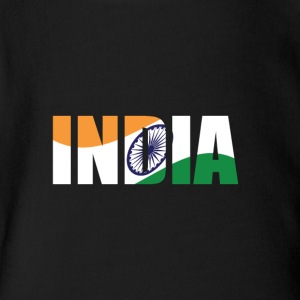 country India - Short Sleeve Baby Bodysuit