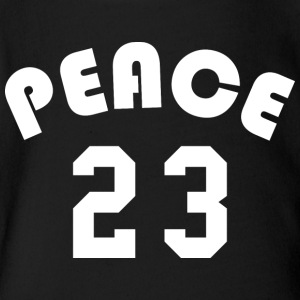 Peace - Team Design (White Letters) - Short Sleeve Baby Bodysuit