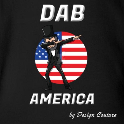 DAB AMERICA WHITE - Organic Short Sleeve Baby Bodysuit