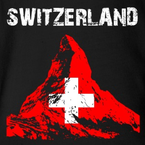 Nation-Design Switzerland Matterhorn - Short Sleeve Baby Bodysuit