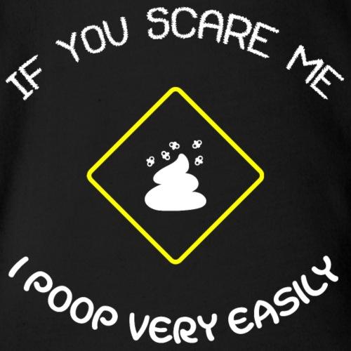 Poop Easily White GVF1ww - Organic Short Sleeve Baby Bodysuit