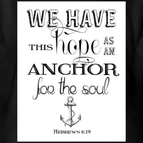 Hebrews 6:19 - Organic Short Sleeve Baby Bodysuit
