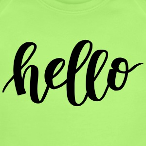 Hello - Short Sleeve Baby Bodysuit
