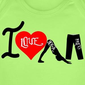 I Love Yoga Pants - Short Sleeve Baby Bodysuit