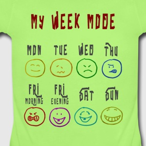 Week Mode - Short Sleeve Baby Bodysuit
