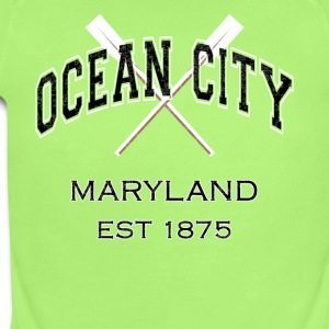 Ocean City Maryland Established 1875 - Short Sleeve Baby Bodysuit