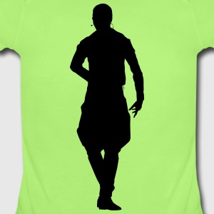 Musician and dancer silhouette vector - Short Sleeve Baby Bodysuit