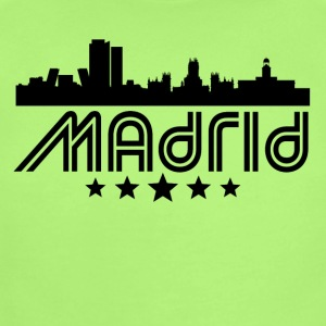 Retro Madrid Skyline - Short Sleeve Baby Bodysuit