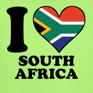 I Love South Africa South African Flag Heart - Short Sleeve Baby Bodysuit