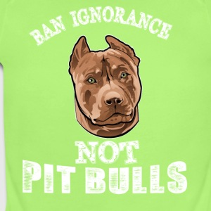 Ban ignorance not pit nulls - Short Sleeve Baby Bodysuit