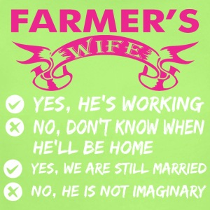 Farmers Wife Yes Hes Working - Short Sleeve Baby Bodysuit