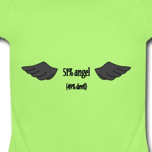 51% angel (49% devil) - Short Sleeve Baby Bodysuit