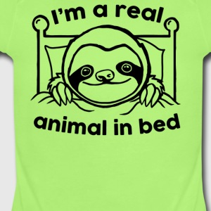 I m A Real Animal In Bed - Short Sleeve Baby Bodysuit