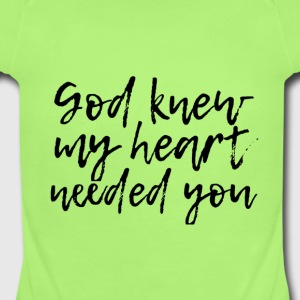 God knew - Short Sleeve Baby Bodysuit