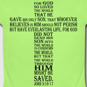 john 3:16-17 - Short Sleeve Baby Bodysuit